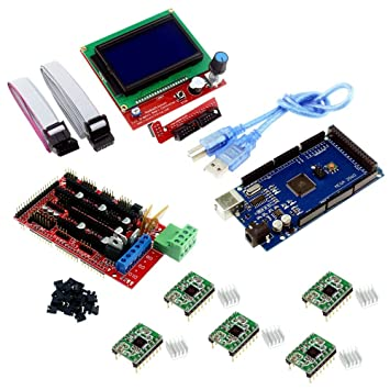 Morismoon Mega 2560 R3 Mega2560 REV3 + RAMPS 1.4 Controlador + ...