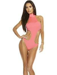 Forplay Womens St. Barts Sporty Halter Cutout Monokini One-Piece Swimsuit