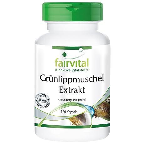 Extracto de mejillón de labio verde - para 1 mes - Alta dosificación - 120 cápsulas