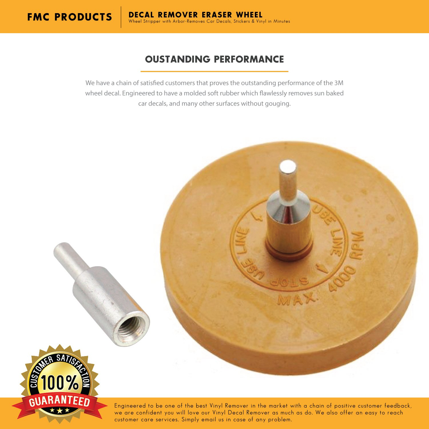 Decal Remover Eraser Wheel Diameter X Width Similar To - Custom vinyl decals for cars removal options