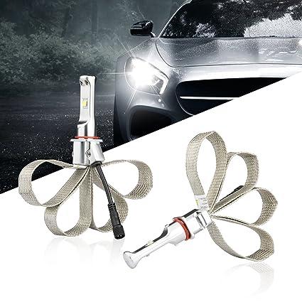 Amazon.com: H4 Led Headlights CREE 48W 4800LM Fanless 6500K Cool White Super Bright Headlight Bulbs Conversion Kit: Automotive
