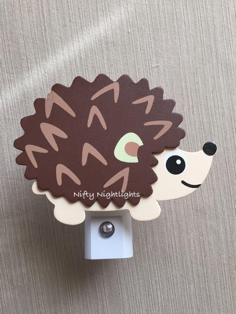 Nursery Night Lights - Night Light, Baby Shower, Hedgehog, Auto On/Off Sensor