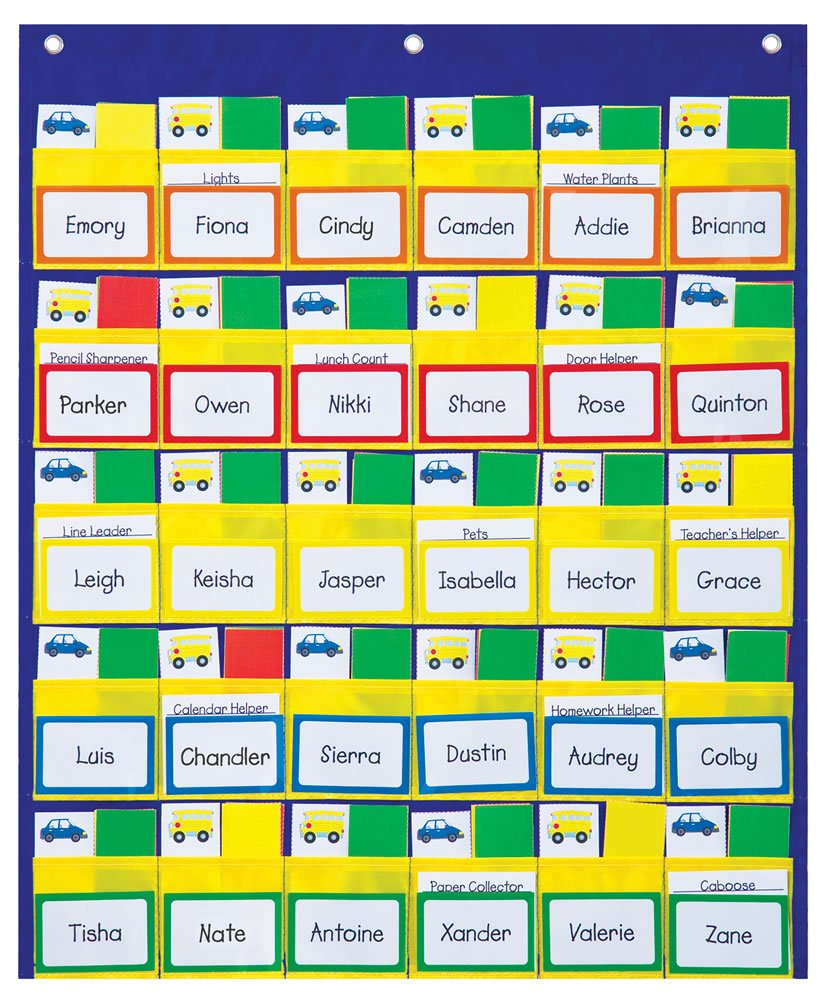 amazon com carson dellosa classroom management pocket chart