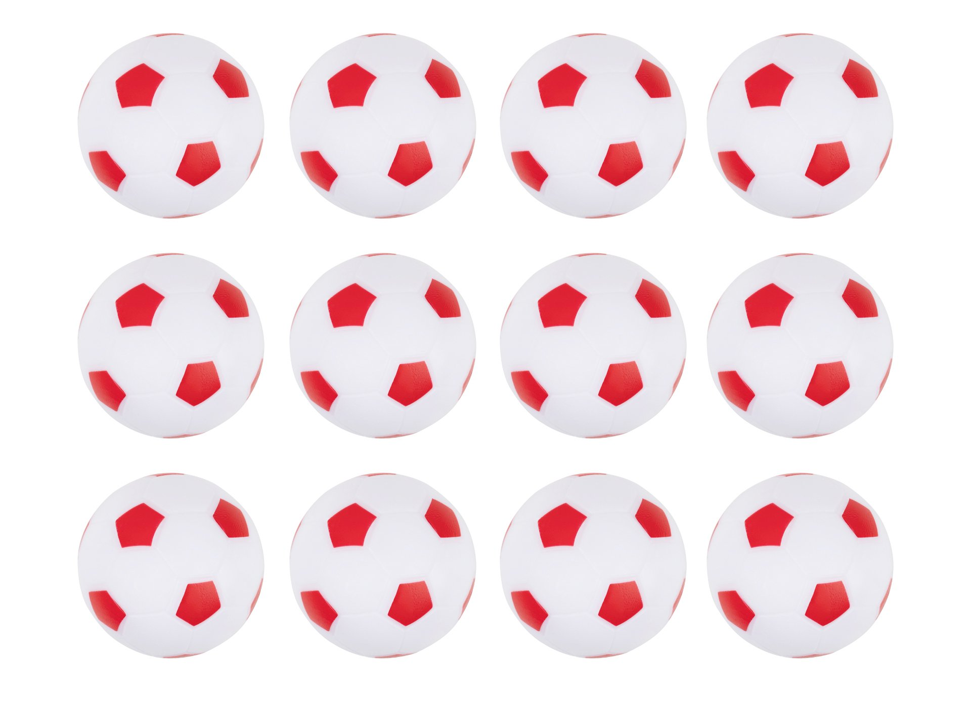Truscope Sports Foosball Table Soccer Replacement Balls - 36mm - (12 Pack, Red-White)