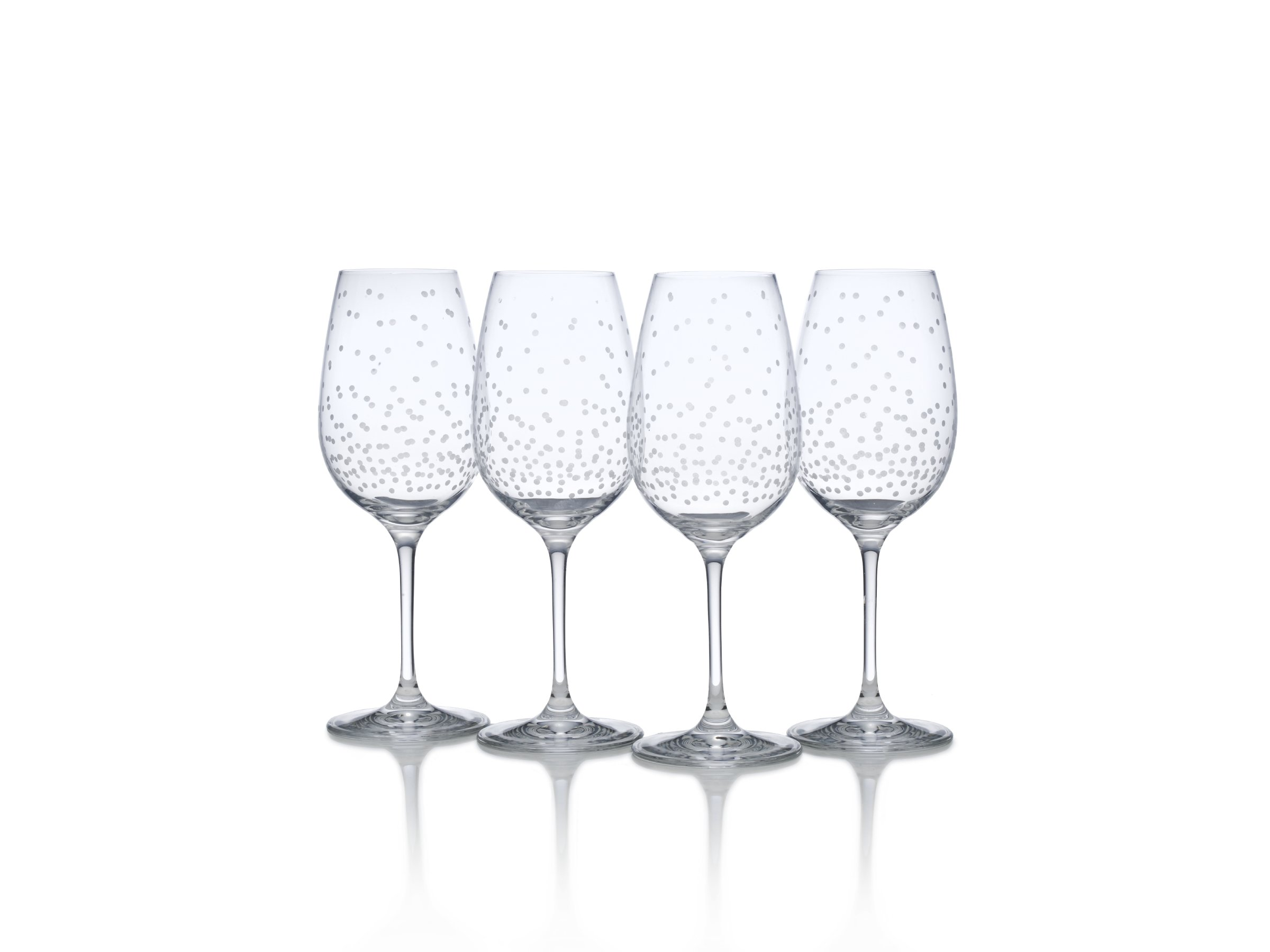 Mikasa Celebrations White Wine Glass, 15-Ounce, Set of 4