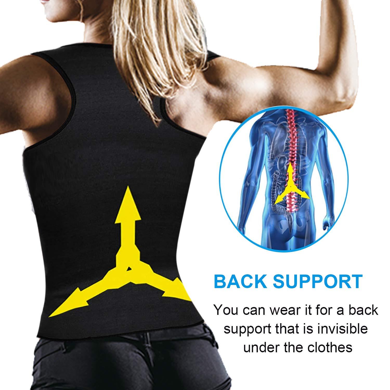VENAS Women Neoprene Sauna Sweat Waist Trainer Vest with Zipper for Weight Loss Gym Workout Body Shaper Tank Top Shirt