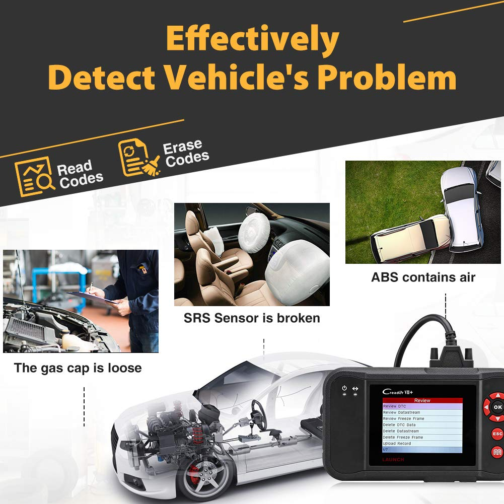 LAUNCH Black Creader VII+ OBD2 Scanner ABS SRS Transmission and Engine Code Reader Diagnostic Scan TPMS Activation Tool Gift by LAUNCH (Image #8)