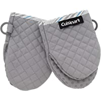 Cuisinart Silicone Mini Oven Mitts, 2pk - Little Oven Gloves for Cooking - Heat Resistant, Non-Slip Grip, Hanging Loop…