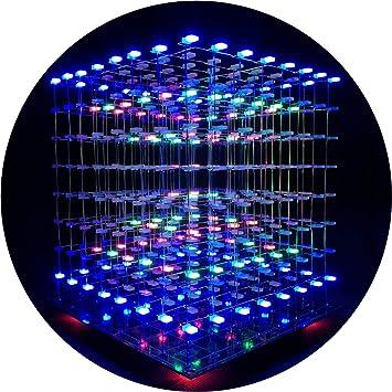 iCubeSmart 3D LED Cubo Bricolaje electrónico 8x8x8 Juguete ...