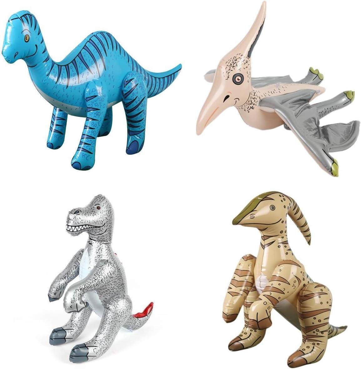 Paquete De 4 Dinosaurios Inflables Gigantes para Decoraciones De ...