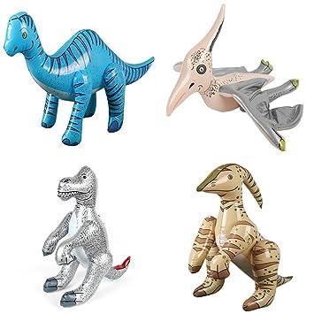 4x Surtido Inflable Dinosaurios Hinchables De Pvc Partido ...