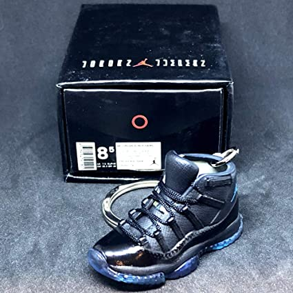 809f504c630e Amazon.com   Air Jordan XI 11 Retro High Gamma Blue Sneakers Shoes 3D  Keychain 1 6 Figure + Shoe Box   Everything Else