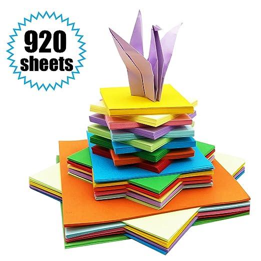 Origami Papier 920 Blatt Origami Papier Doppelseite Bastelpapier