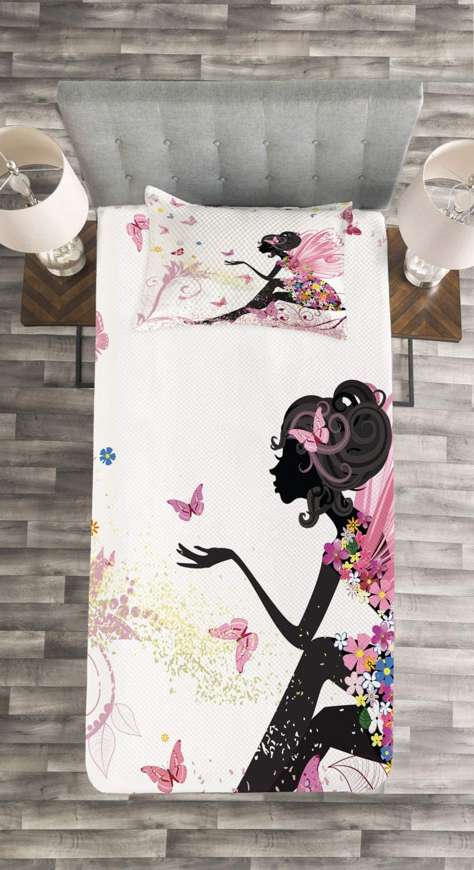 Multicolore ABAKUHAUS Fantaisie Couvre-Lit Technologie num/érique la Plus Moderne Fantasy Garden 170 x 220 cm