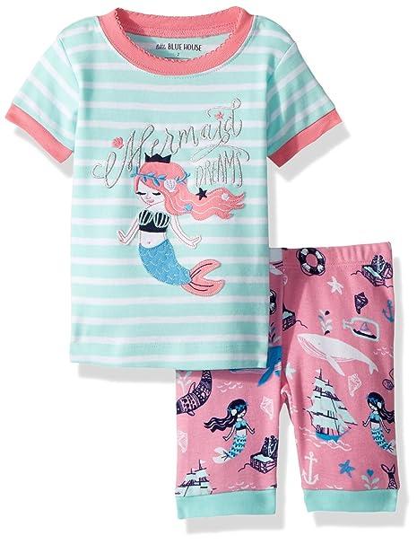 Hatley Short Sleeve Appliqué Pyjama Sets, Conjuntos de Pijama para Niñas: Amazon.es: Ropa y accesorios