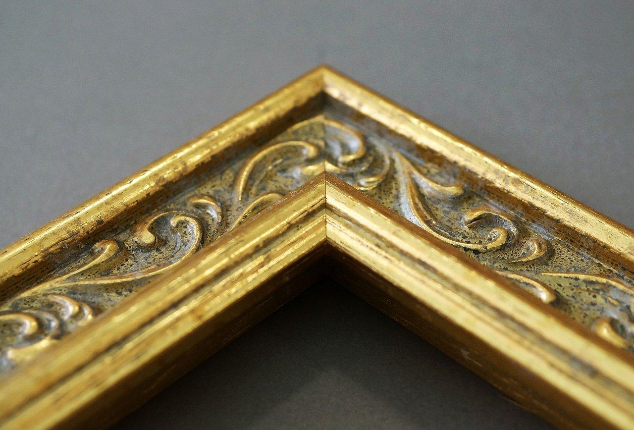 Spiegel Wandspiegel Badspiegel Flurspiegel Garderobenspiegel - Über 200 Größen Größen Größen - Verona 558P-ORO Gold 4,4 - Außenmaß des Spiegels 40 x 110 - Wunschmaße auf Anfrage - Antik, Barock 51b358