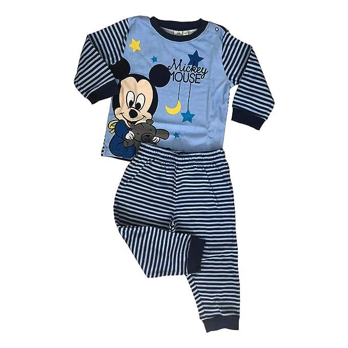 12ce05e30 Amazon.com  Disney Mickey Mouse 2 Pieces Infant Newborn Boys Pajama ...