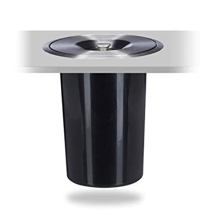 Relaxdays – Cubo de Basura Empotrado para encimera, Tapa, higiénico, Basura orgánica, Acero Inoxidable, Altura x diámetroa: 29,5 x 26,5 cm, ...