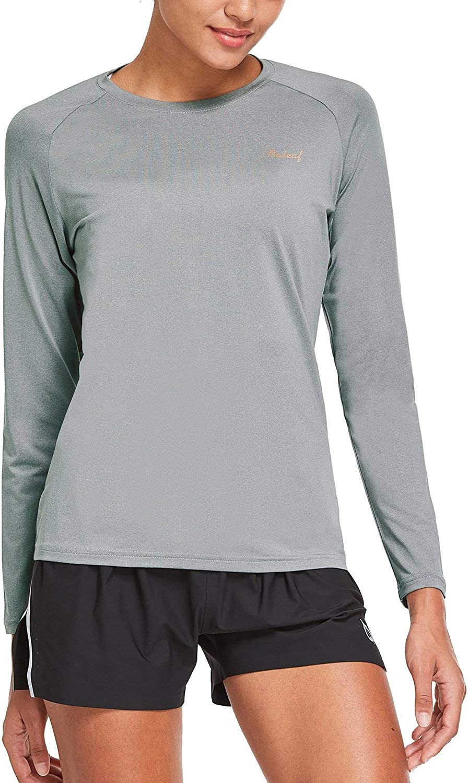 BALEAF Womens Long Sleeve UV Shirts Quick Dry Running Workout Shirts