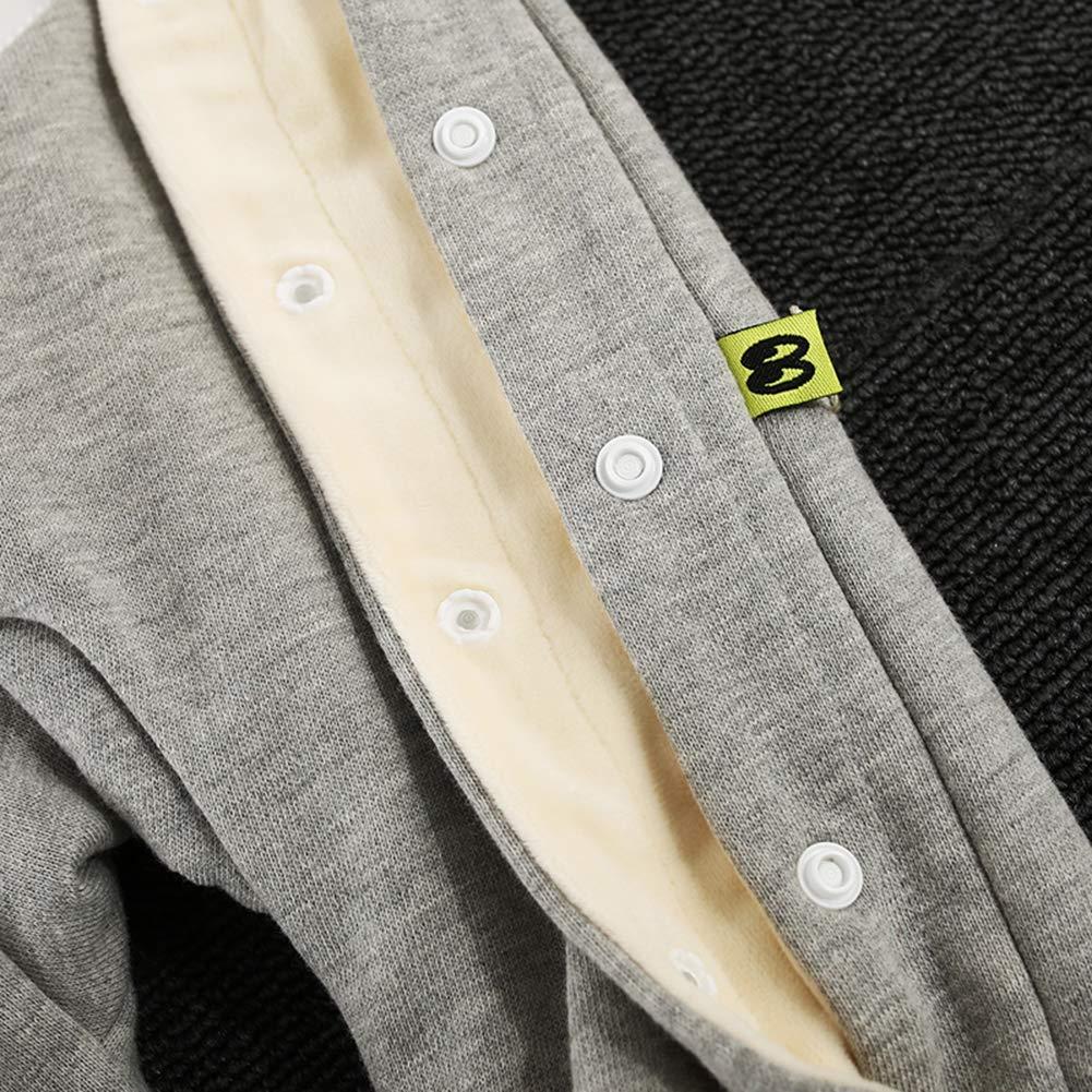 Feidoog Baby Boy Winter Velvet Romper Cartoon Infant Thicken Velvet Lining Long Sleeve Romper Jumpsuit