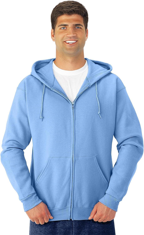 3X Jerzees Nublend Adult Full-Zip Hooded Sweatshirt Light Blue