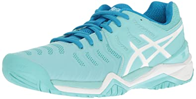 ASICS Women's Gel-Resolution 7 Tennis Shoe, Aqua Splash/White/Diva Blue