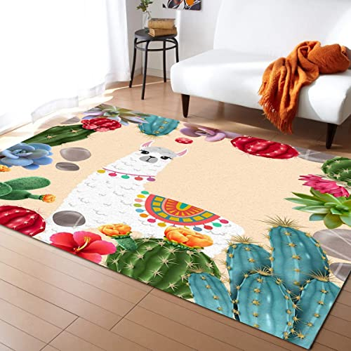Large Rectangle Area Rugs Shape Durable Low Pile 4' x 6'
