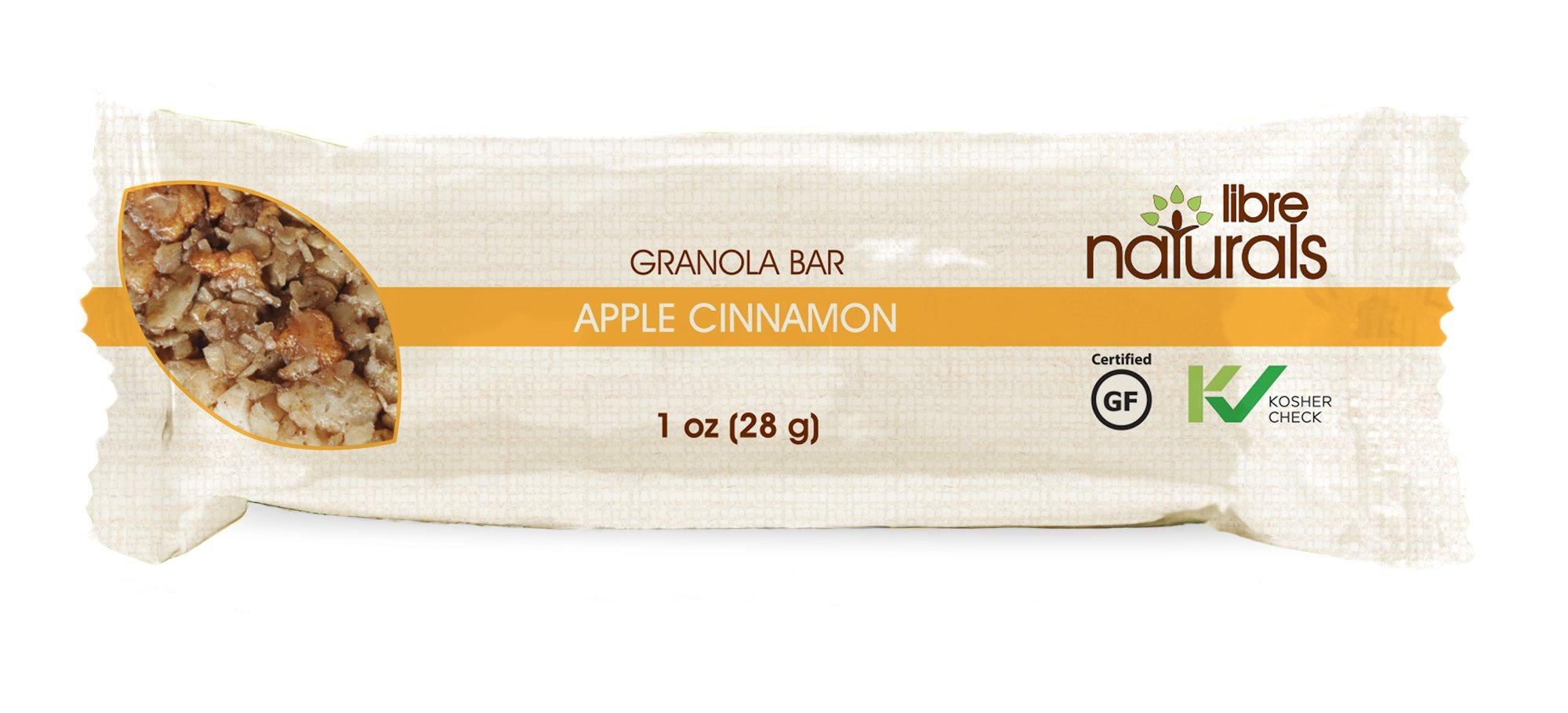 Nut Free, Gluten Free >> Apple Cinnamon Vegan Granola Bar - Libre Naturals, 28 gram, 100 Bar Bulk Case