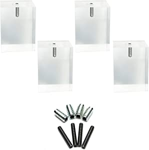 Square Acrylic Furniture Foot- 4