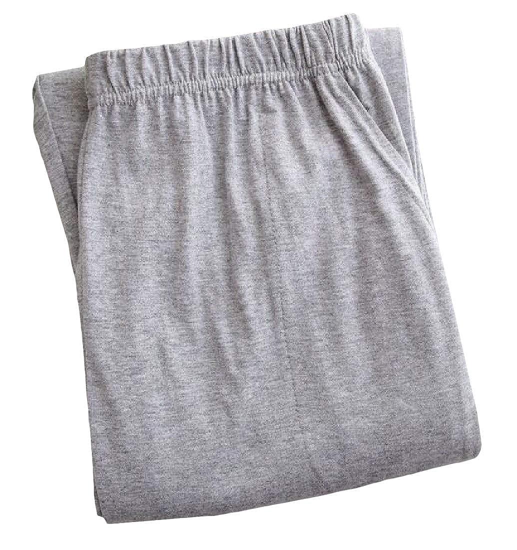 Hajotrawa Mens Comfort Casual Sleepwear Homewear Elastic Waist Pajama Pants