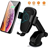 Wireless Car Charger Mount, LIONAL Qi Fast Wireless Charger Gravity Car Mount Air Vent Phone Holder Fast Charging Compatible with iPhone XS / XS Max / XR / X / 8 Plus / 8, Samsung S10, S10+, S9, S9+ , Note 9, S8, S8+, S7 and other Qi-Enable Devices