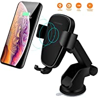 Wireless Car Charger Mount, LIONAL Qi Fast Wireless Charger Gravity Car Mount Phone Holder for iPhone Xs/XS Max/XR/X / 8 Plus / 8, Samsung S10, S10, S9, S9, Note 9 and Other Qi-Enable Devices