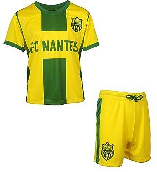 89af650d39 FC NANTES Maillot + Short Collection Officielle FCNA - Ligue 1 - Taille  Enfant garçon 8