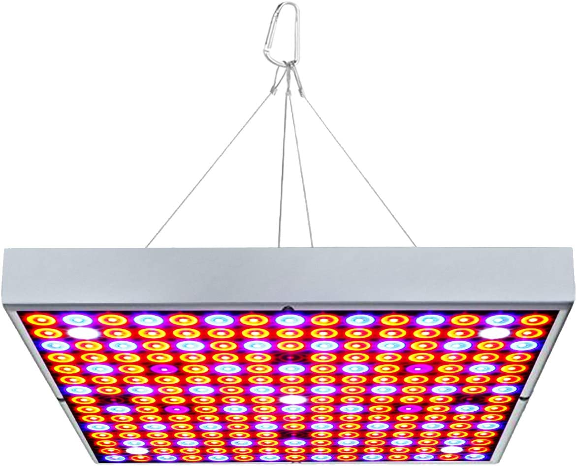 Exmate LED Grow Light 45W UV IR for Indoor Plant Growing with 225 LEDs Full Spectrum Growing Lamps for Greenhouse Vegetative Herb Succulents Hydroponic Seedlings and Flowering Sliver