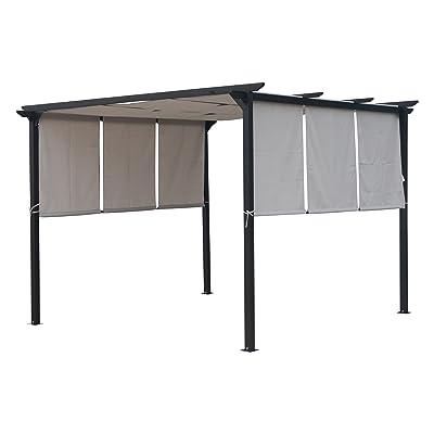 Christopher Knight Home 304383 Dione Outdoor Steel Framed 10' Gazebo, Grey/Brown : Garden & Outdoor