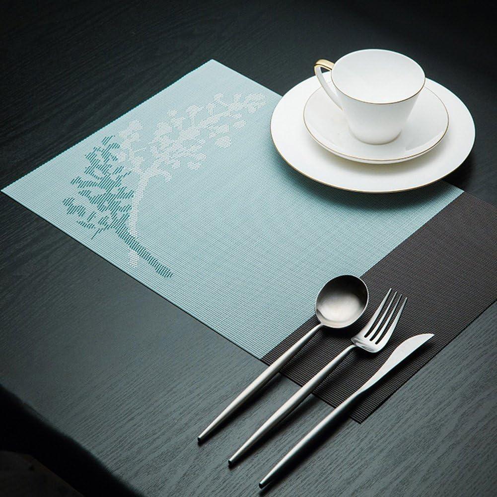 Yellow sbfwh Set de Table PVC Lot de 6 Sets de Table 45 30 CM Tiss/é