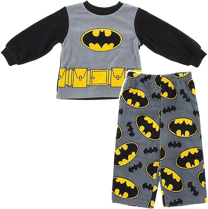 Toddler Boys Pajama Set BATMAN SUIT World/'s Best BLACK YELLOW Logo 2T 3T 4T 5T