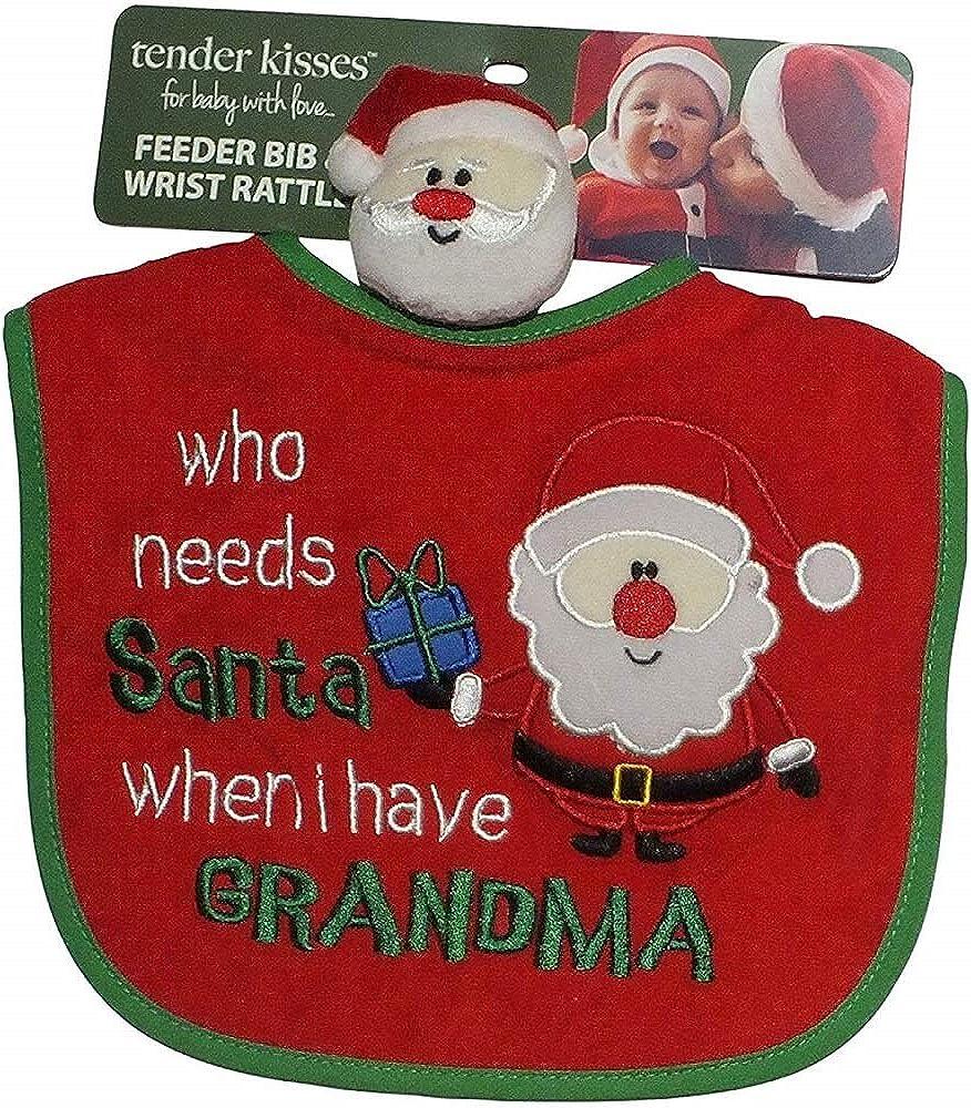 Baby Bandana Bib Who Needs Santa When I Have My Mummy Grandma ...christmas