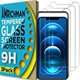 AMRICHMAN Screen Protector Compatible with iPhone 12 Pro Max, Tempered Glass Screen Protector for iphone 12 Pro Max 6.7 inch