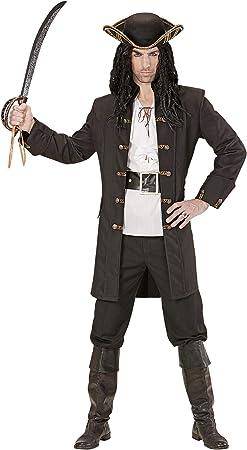 Widmann - Disfraz adulto pirata ladrón, Negro, XL: Amazon.es ...