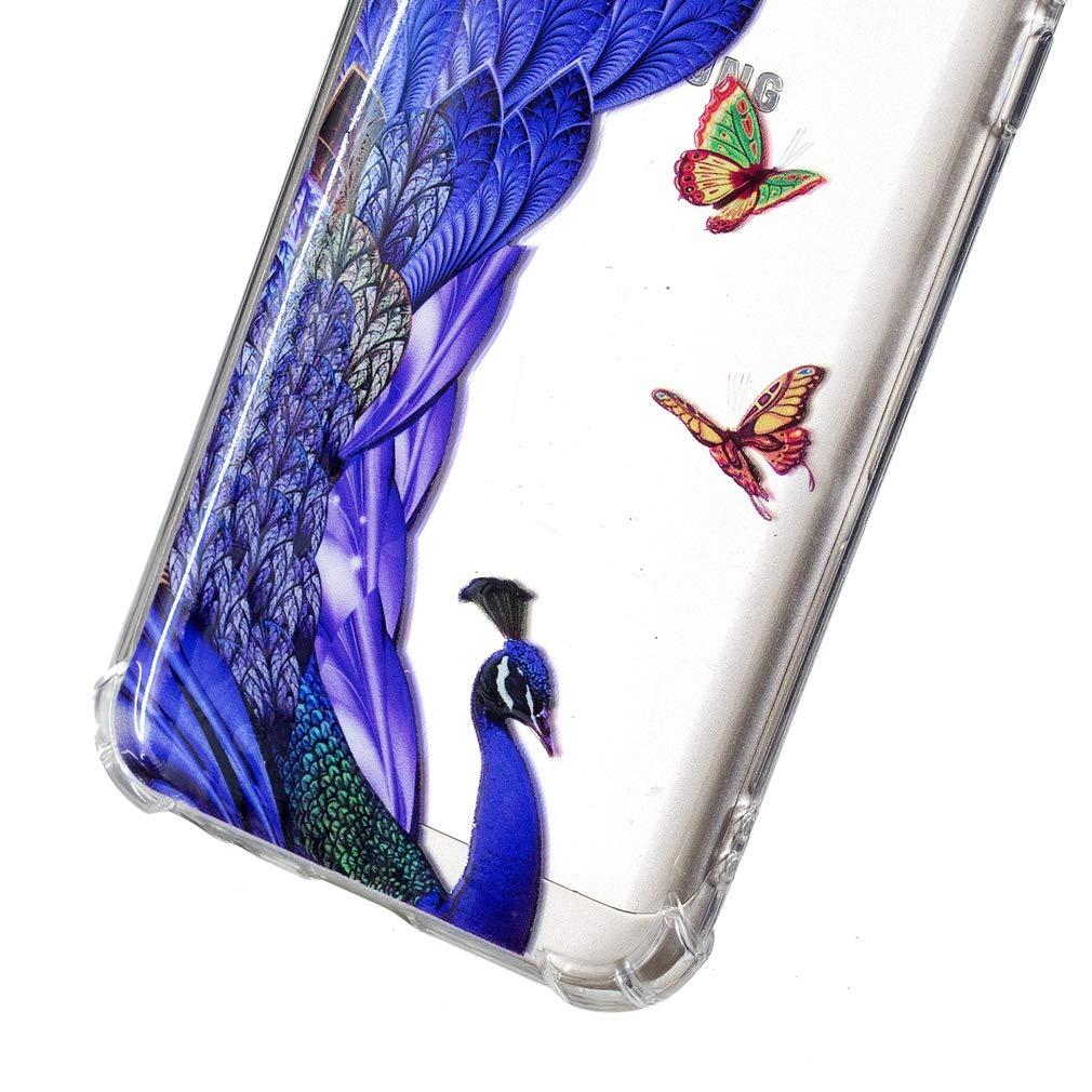 SZHTSWU H/ülle f/ür Samsung Galaxy A8 2018 // SM-A530F Ultrad/ünn Weiche Transparent TPU Silikon Schutzh/ülle Case Flexible R/ückschale Back Cover,Blauer Schmetterling 5,6 Zoll