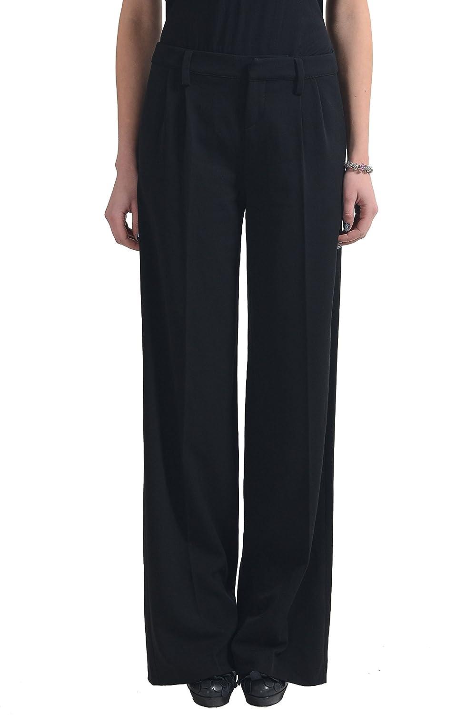 Versace Jeans Couture Women's Black Wool Pleated Dress Pants US 24 IT 38