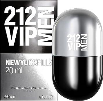 81c8de0c91 Carolina Herrera 212 VIP Men New York Pills 20ml Eau De Toilette Spray  &Gift Bag: Amazon.co.uk: Beauty
