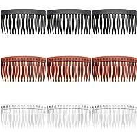 9 st sidohårkammar, halkfria hårsidokammar plast fransk sida kam hårtillbehör för kvinnor flickor
