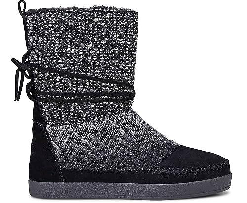 0c77cc1b7 TOMS Womens Nepal Boot Black Suede Textile: Amazon.co.uk: Shoes & Bags