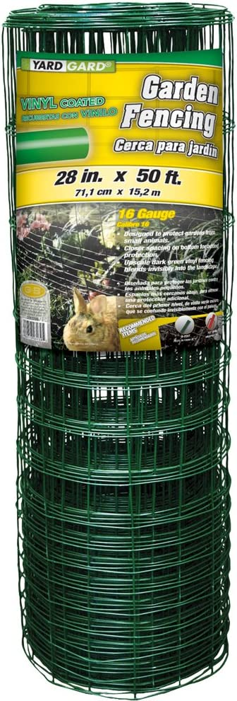 YARDGARD 308376B Garden Rabbit Fence 28 inch x 50 Foot, Green