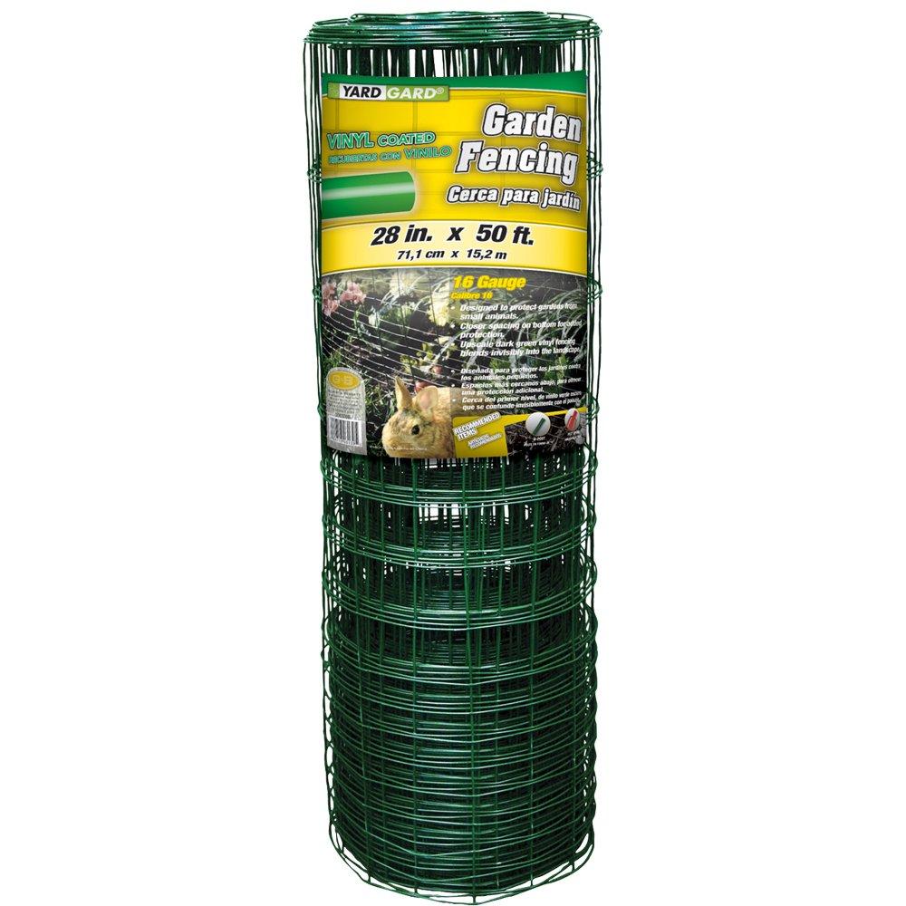 YARDGARD 308376B 28 inch by 50 foot 16 Gauge Green Rabbit Fence