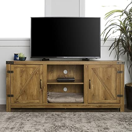 8ad0f01c2720c Amazon.com  Home Accent Furnishings New 58 Inch Door Television Stand with  Side Doors (Barnwood