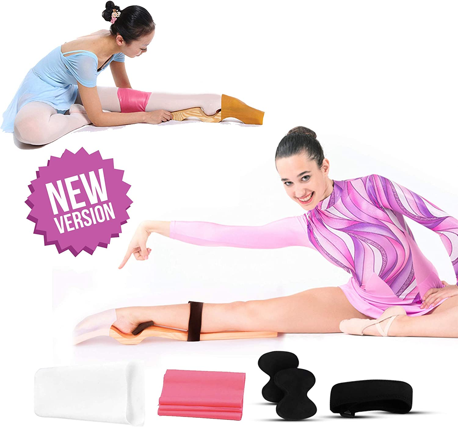 Vbest life Arch Foot Stretcher for Ballet and Gymnastics Leg Stretching ooden Ballet Dance Foot Stretch Stretcher Arch Enhancer with Elastic Band