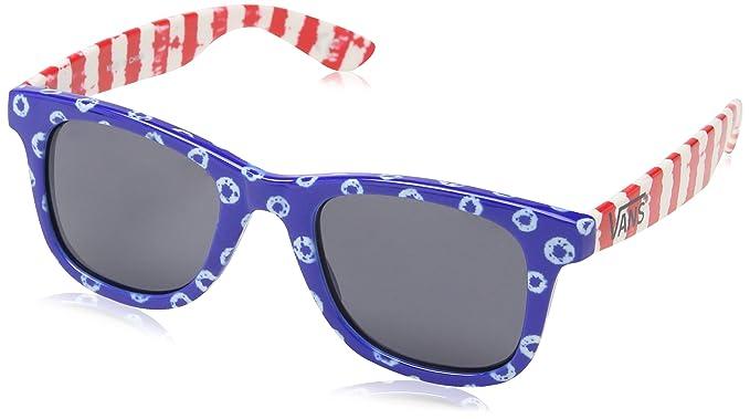 Vans Janelle Hipster Sunglasses, Lunettes de Soleil Femme, Bleu (Dyed Dots Stripes Blue/Red), Taille Unique (Taille Fabricant: Taille Unique)